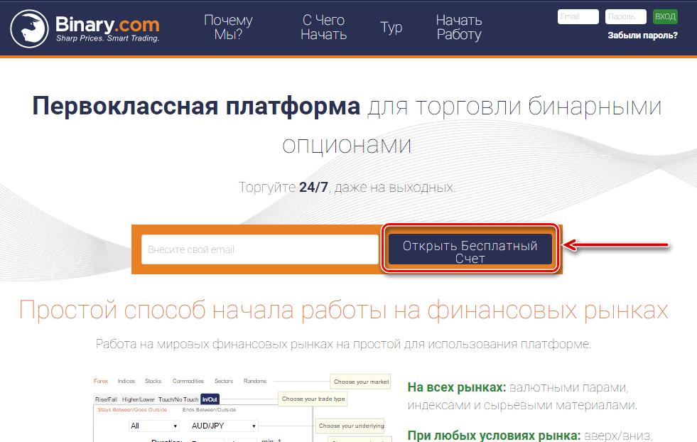 bináris opciók demó számlája regisztráció nélkül